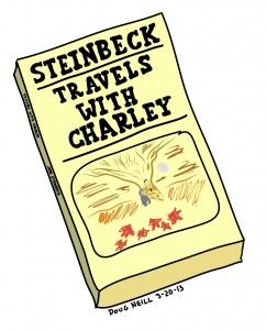 Doug's Daily Drawing #18 - 2013-3-20 - Travels With Charley