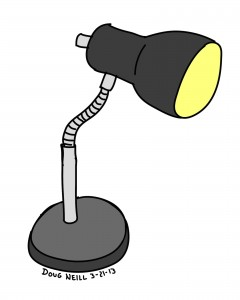 Doug's Daily Drawing #19 - 2013-3-21 - Desk Lamp