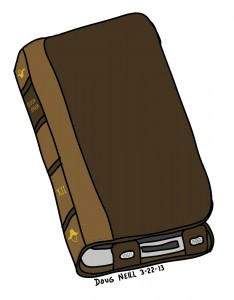 Doug's Daily Drawing #20 - 2013-3-22 - Book Book iPhone Case and Wallet