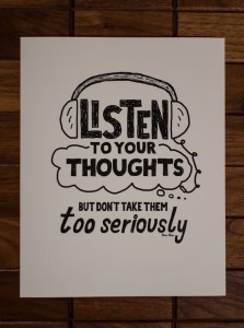 Listen to Your Thoughts Print (1) - Doug Neill - Etsy