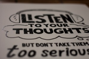 Listen to Your Thoughts Print (2) - Doug Neill - Etsy