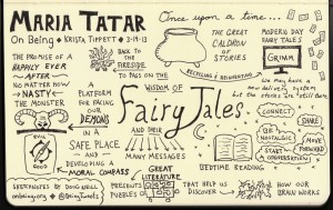 Maria Tatar On Being Sketchnotes - Krista Tippett - Doug Neill