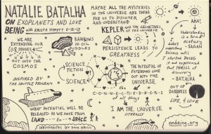 On Being Sketchnotes - Natalie Batalha - Krista Tippett - Doug Neill