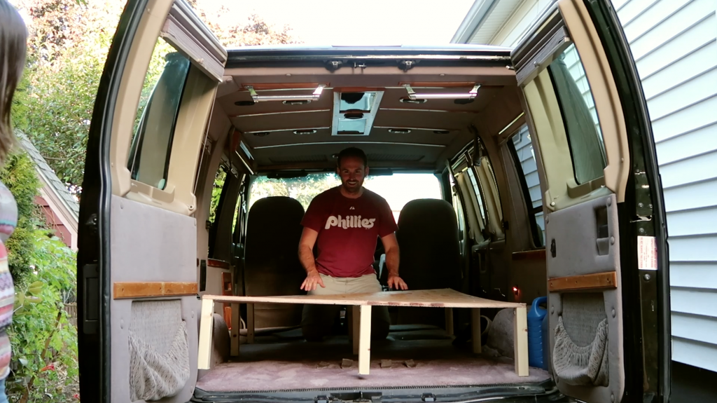Vanlife Bed Frame - Warped Plywood - Doug Neill