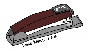 Doug's Daily Drawing #1 2013-2-6 Stapler