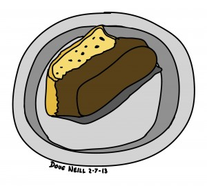 Doug's Daily Drawing #5 - 2013-2-7 Biscotti