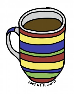 Doug's Daily Drawing #15 - 2013-3-16 - Striped Mug - Doug Neill