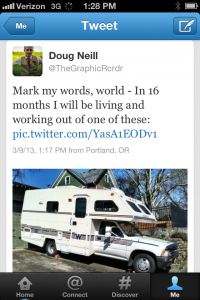RV - Mobile Home and Office Goal Setting Tweet - public commitment - Doug Neill