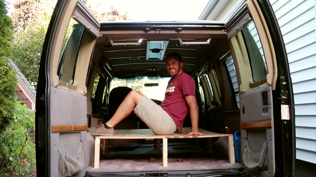 First Vanlife Build: Lifted Bed Frame - Doug Neill
